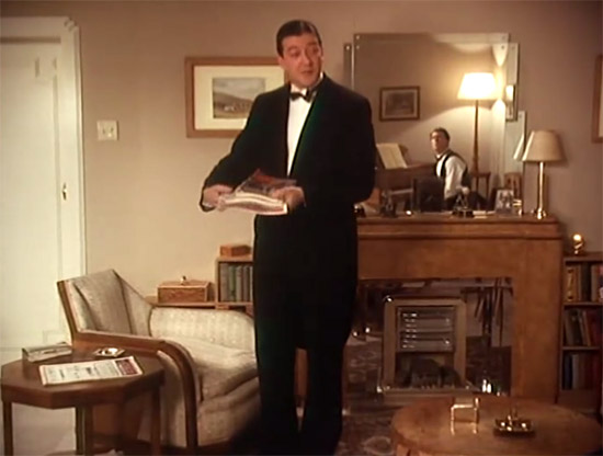 The mantlepiece in Wooster's living room,  Jeeves & Wooster