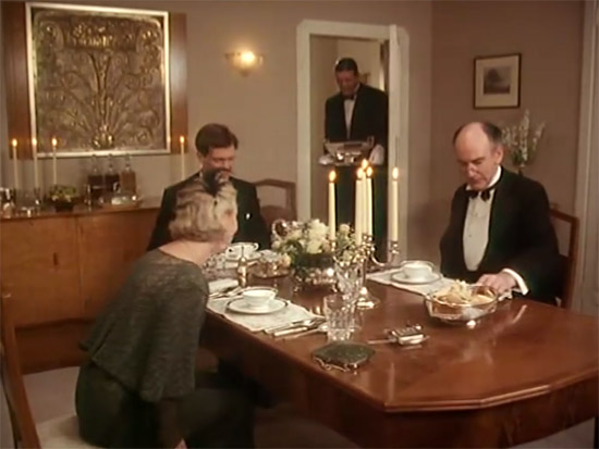Wooster's dining table, Jeeves & Wooster