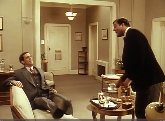 Wooster's living room and foyer, Jeeves & Wooster