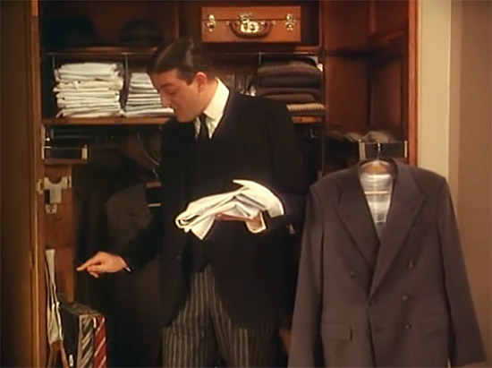 Jeeves at Wooster's wardrobe, Jeeves & Wooster