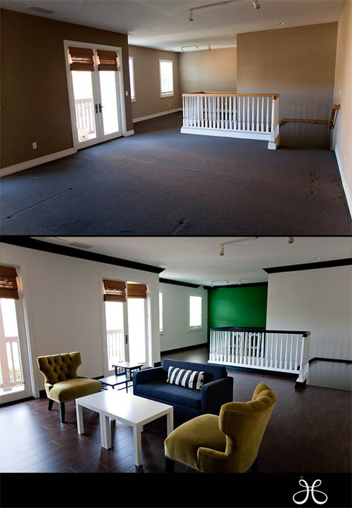 Jessica Claire's new office before and after