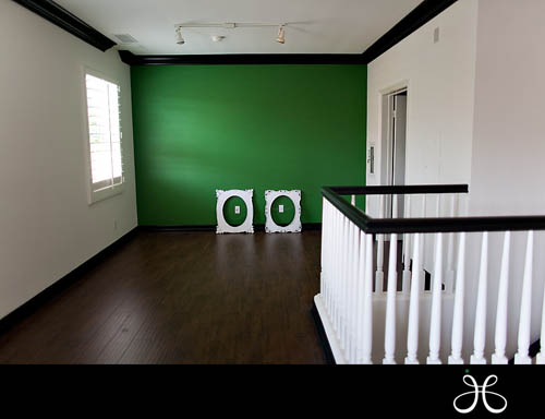 Jessica Claire's new green, white and black office