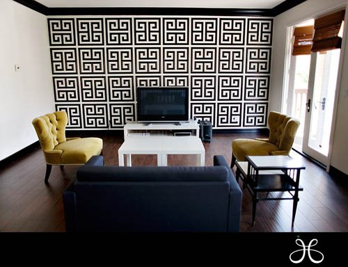Jessica Claire's new office with black trim