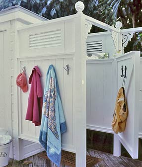 Another outdoor shower hut, via Cottage Living