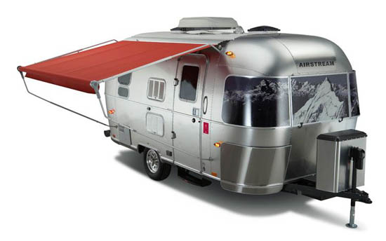 Airstream with canopy out