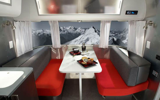 Airstream dining space