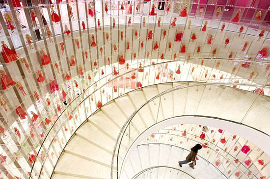 A view from within the stairwell at Barbie @ Shanghai