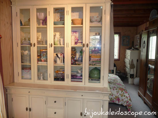Our white cabinet in our small 430 sq ft home
