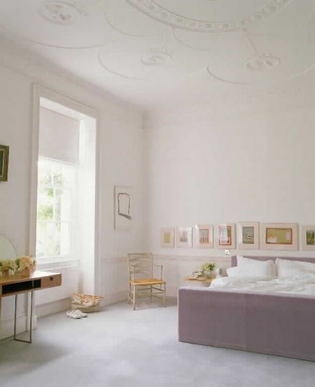 White and purple bedroom