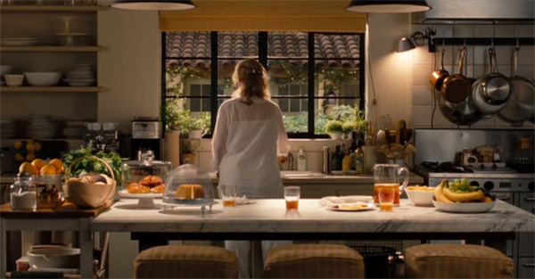 Streep in her kitchen in It's Complicated