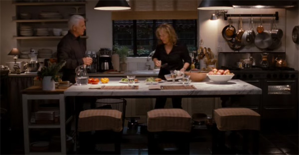Dinner for two at the kitchen in It's Complicated