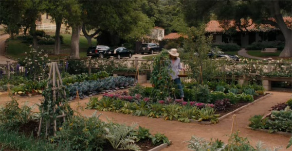 The enviable vege garden in It's Complicated