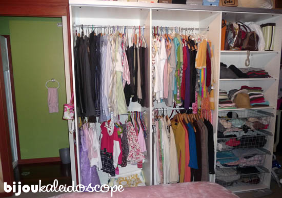 The Pax wardrobe in our small bedroom in the tiny studio