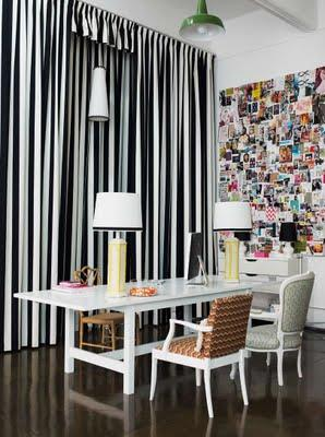 Curtains Ideas brown white striped curtains : Black and white stripes | bijou kaleidoscope