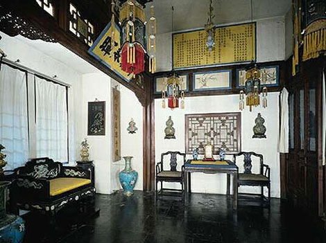 An old Oriental room with Chinese Chippendale chairs