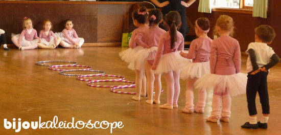 Hannah's first day at Ballet