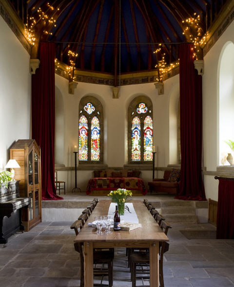 Dining room in converted church