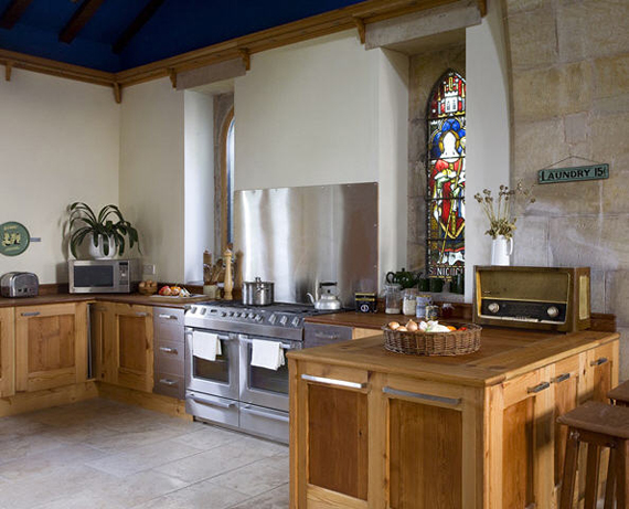 Kitchen in converted church
