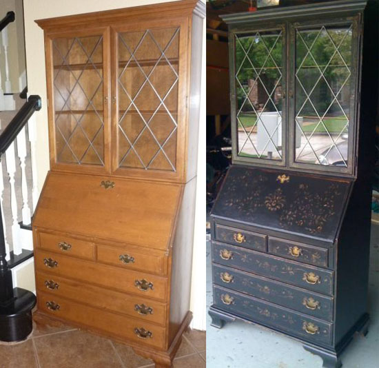 The secretaire redo by reader Yvonne Evans