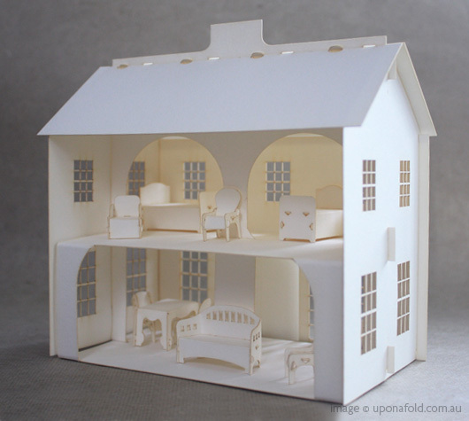 Lea dollhouse, via Once Upon a Fold