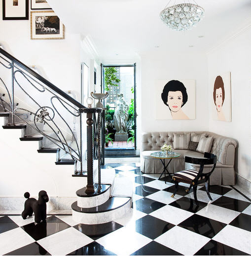 Candia Fisher's foyer, via Aman & Carson