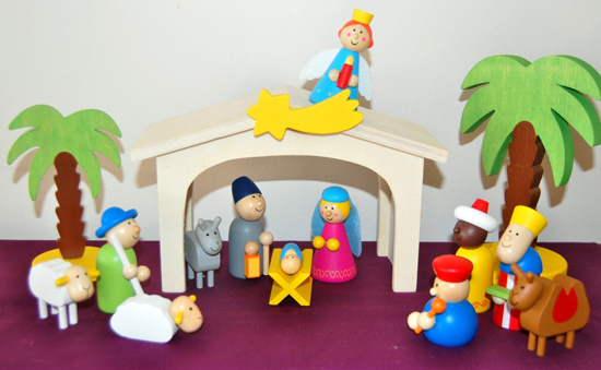 Cute and colourful nativity set from mywoodentoys.com.au, based in Perth, Australia