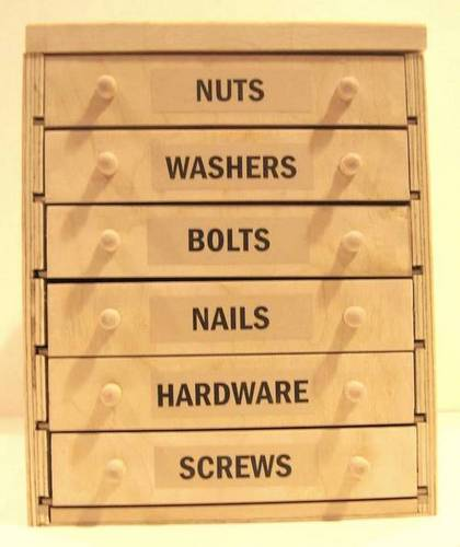 Drawers for easy tool separation
