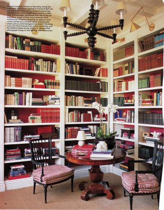 Books with red, pinks and plenty of blacks