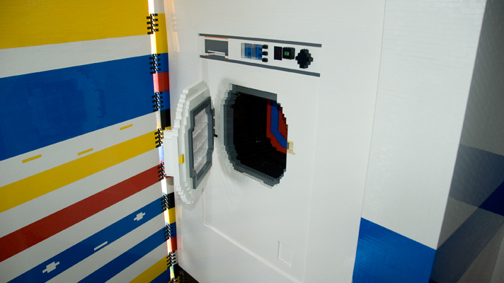 The Lego washing machine (not working), via Top Gear.