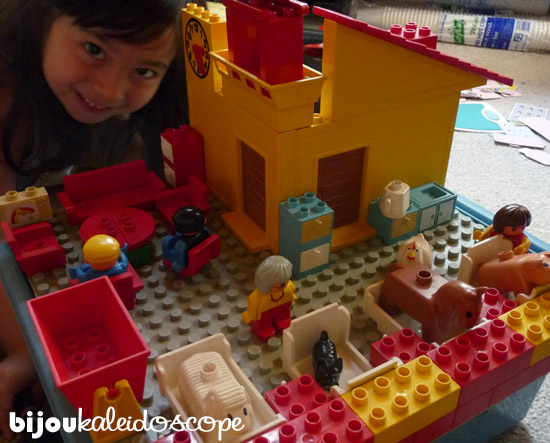 The vet hospital I made for Hannah from almost-30 year old Duplo.