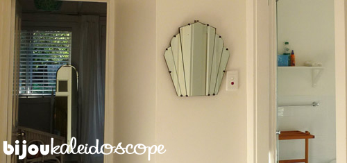 Another of Kate's vintage mirrors at the Huskisson Bay B&B