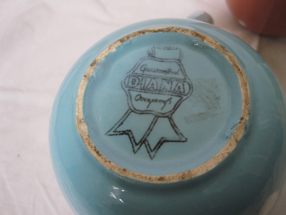 A Diana pottery stamp from 1950