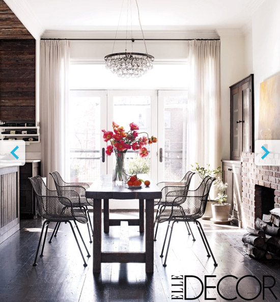 Keri Russells Dining Room Via Elle Decor