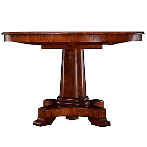A John Lewis Hemingway round table with beautiful sculptural base