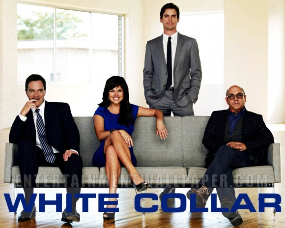 The White Collar cast; Tim Dekay, Tiffani Thiessen, Matt Bomer and William Garson