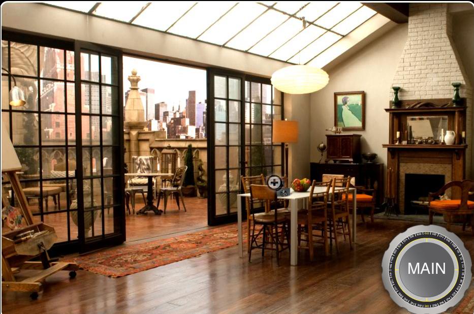 Neal Caffrey's loft studio, the reverse angle.