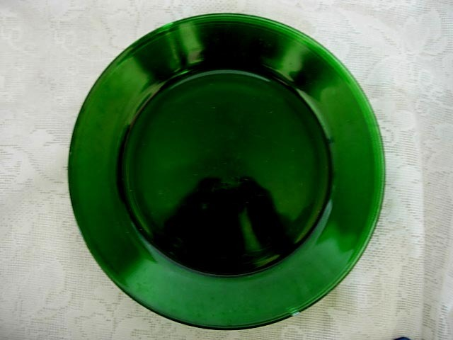 Beautiful Vintage Emerald Green Glass Plate on eBay
