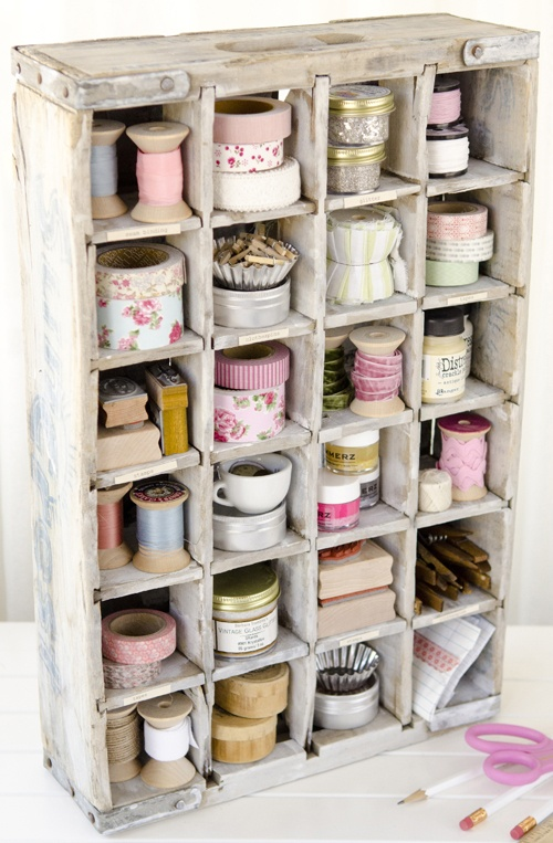 Shadowbox filled with ribbons, via Pinterest