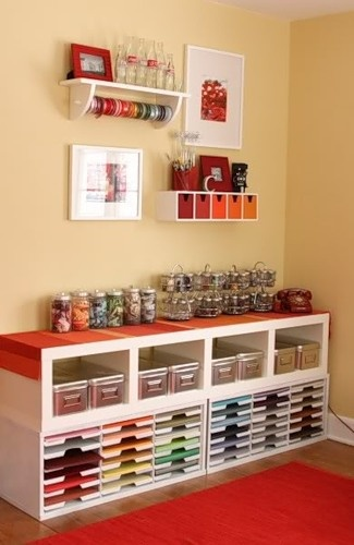 Craft paper storage, via Pinterest