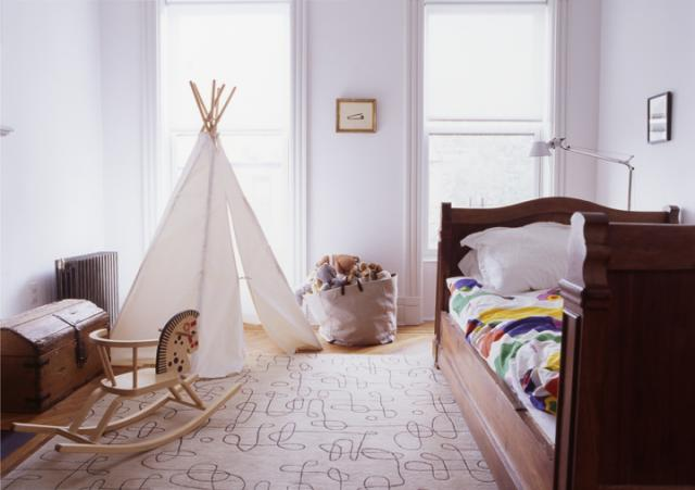 Teepee in toddlers room, via Remodelista