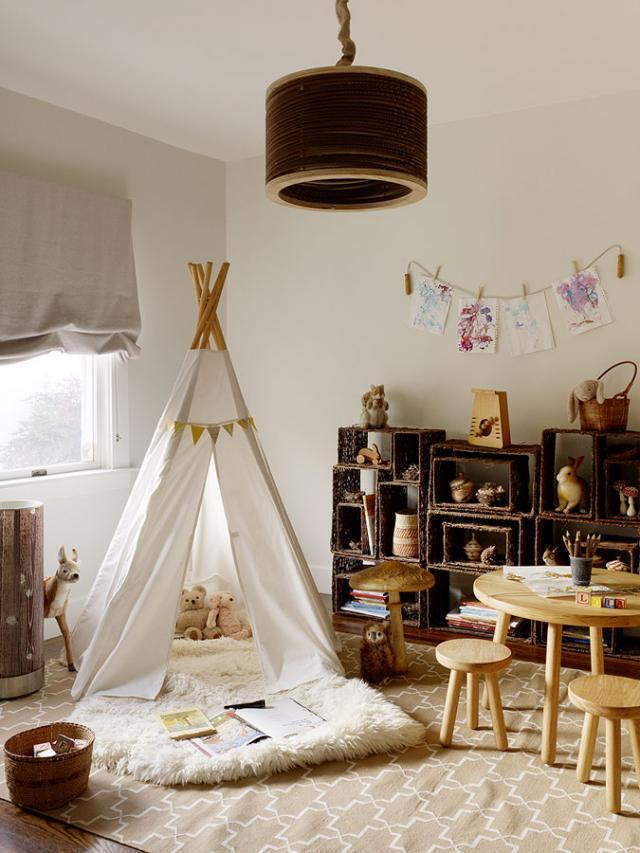 Teepee in playroom, via Remodelista
