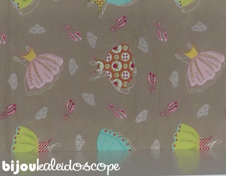 The pretty brown ballerina fabric I selected for Hannah's closet.