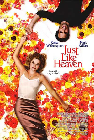 Reese Witherspoon and Mark Ruffalo in Just Like Heaven poster, via Movie Exclusive