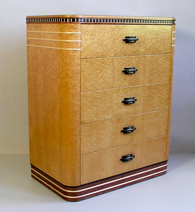 Birds eye art deco  maple dresser, via Joel Liebman Designs