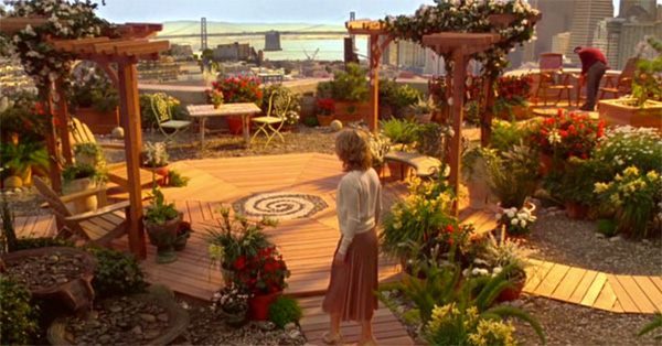 Rooftop garden, Elizabeth's apartment, Just Like Heaven