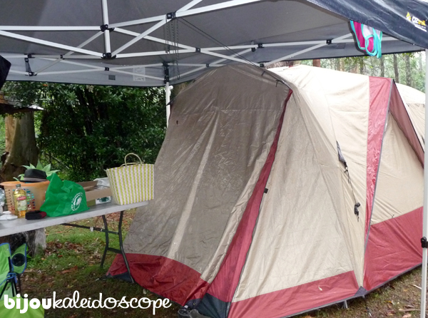 Our large new tent while camping with friends in Polish campground in NSW.