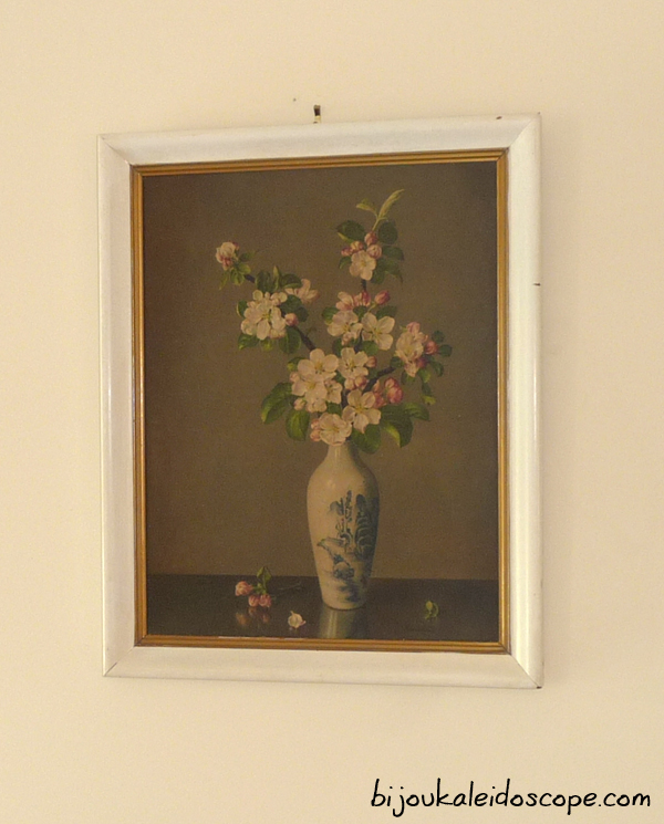 My cherished print, James Noble's Apple Blossom in a vase