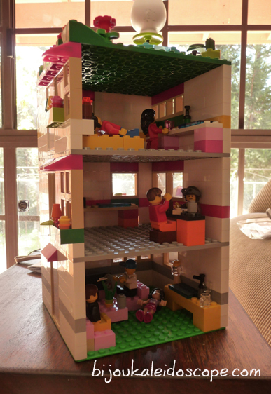 Hannah and I made a apartment block from Lego