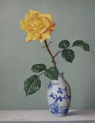 Yellow rose, by James Noble, via Art Value