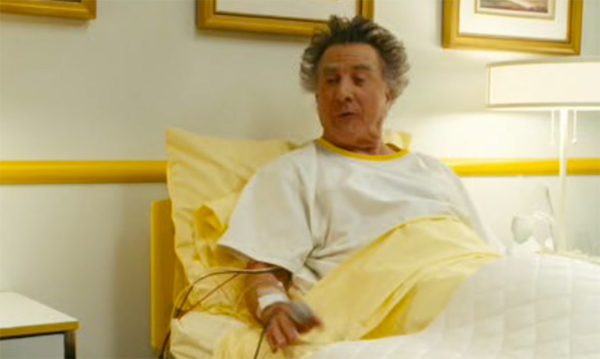 Dustin Hoffman in pale yellow hospital bedlinen, Mr Magorium's Wonder Emporium